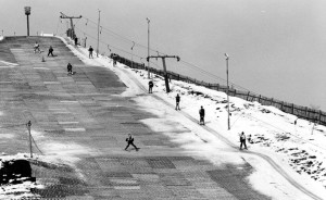 DAYS GONE BY: Proposals to build a real snow slope on the former Beckton Alps dry slope (pictured in 1991 after a snowfall) were shelved, but East London could still get an indoor snow centre if plans by Westfield go ahead.