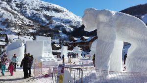 GIANT ART: Some of the entries in Valloire's International snow sculpture contest which has been going for more than 30 years